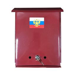 Почтовый ящик ФЛАГ бордовый