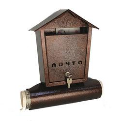 Почтовый ящик Домик (медь)