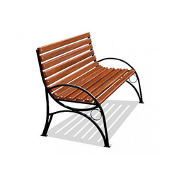 Кованая скамейка со спинкой (артикул 015)