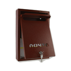 Почтовый ящик Альфа Люкс (коричневый)