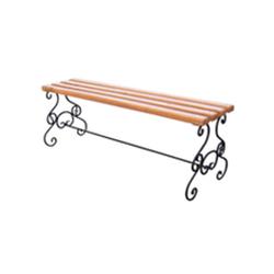 Кованая скамейка без спинки (артикул 1.0)