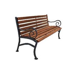 Кованая скамейка со спинкой (артикул 2.0)