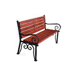 Кованая скамейка со спинкой (артикул 3.0)