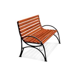 Кованая скамейка со спинкой (артикул 4.0)