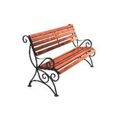 Кованая скамейка со спинкой (артикул 7.0)