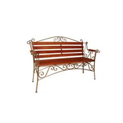 Кованая скамейка со спинкой (артикул 8.0)
