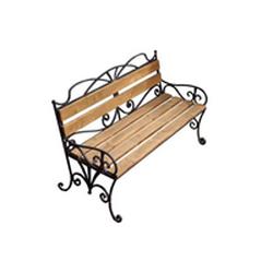 Кованая скамейка со спинкой (артикул 9.0)