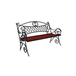 Кованая скамейка со спинкой (артикул 10.0)
