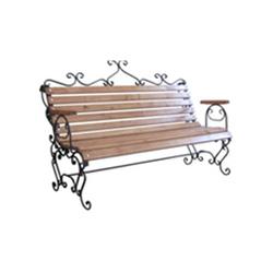 Кованая скамейка со спинкой (артикул 11.0)