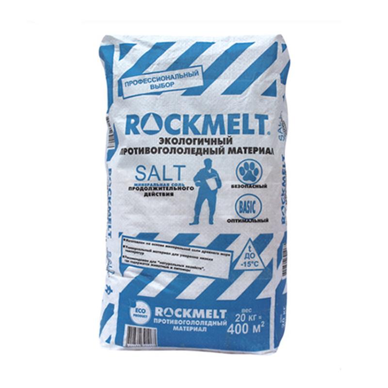 Противогололедный реагент Rockmelt (Рокмелт) Salt 20 кг