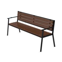 Скамейка уличная с перилами (артикул 022)
