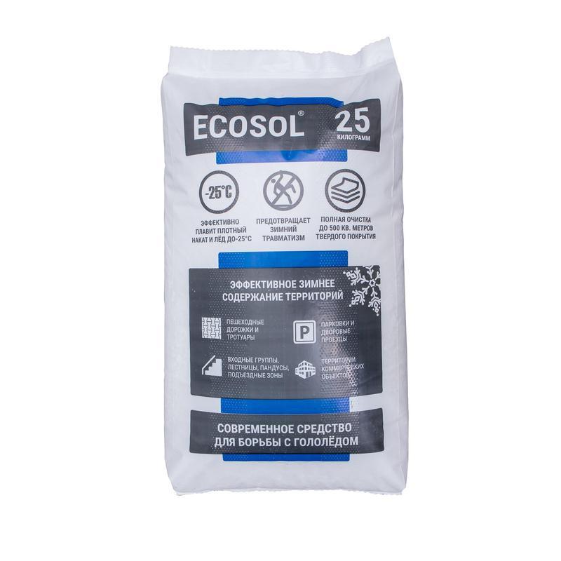 Противогололедный реагент Экосол 25 кг